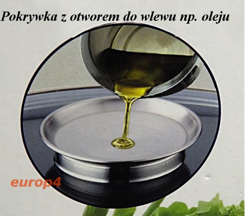 Pokrywka z dozownikiem oleju