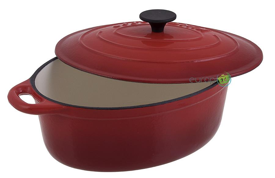 Brytfanna żeliwna 4,5 litra czerwona Kinghoff KH 2265