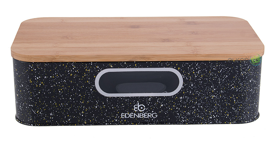 Chlebak metalowy czarny Edenberg EB 95