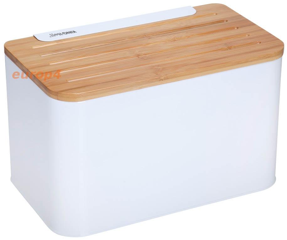 Pojemnik na chleb metalowy KingHoff KH 1072 biały