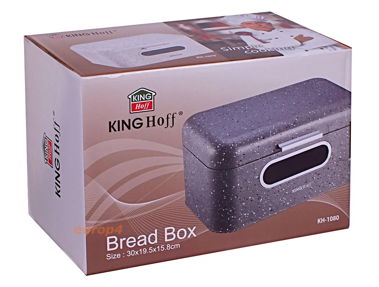 Chlebak stalowy KingHoff KH 1078, 1079, 1080 Grafitowy pudełko