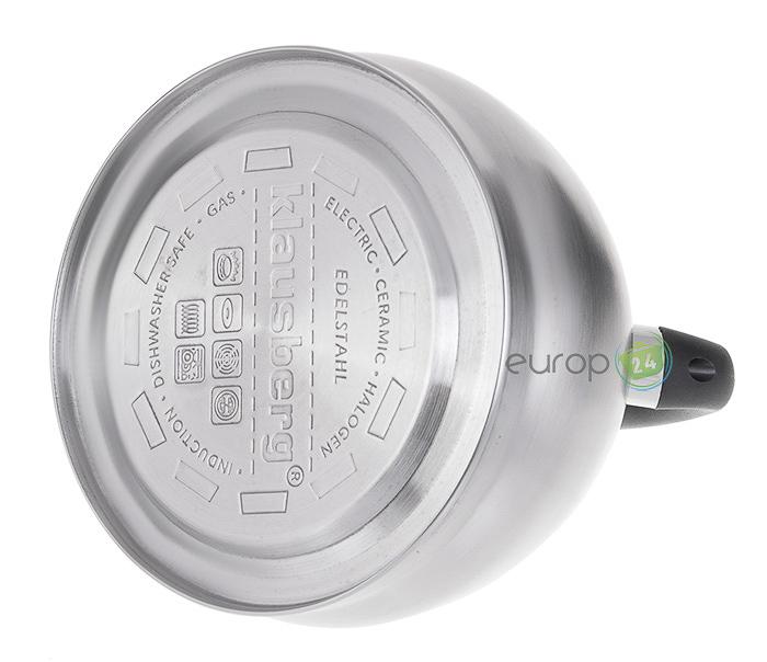 Metalowy czajnik z gwizdkiem Klausberg KB 7044 indukcyjne dno