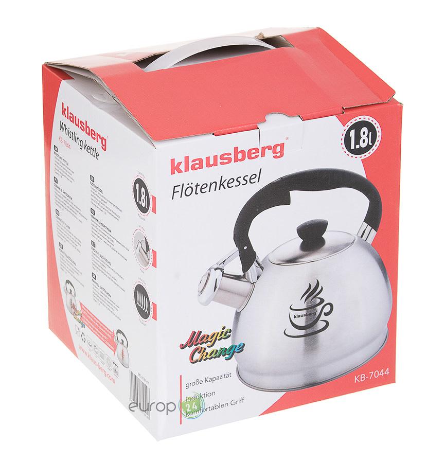 Czajnik stalowy z gwizdkiem Klausberg KB 7044 pudełko