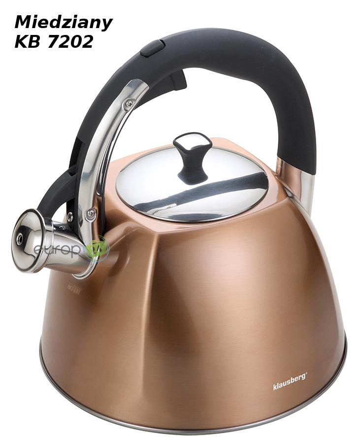 Czajnik stalowy z gwizdkiem 3L Klausberg KB 7202