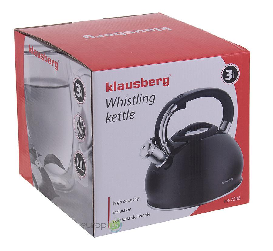 Pudełko czajnika stalowego z gwizdkiem Klausberg KB 7206