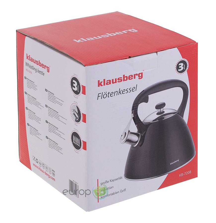 Pudełko czajnika stalowego z gwizdkiem Klausberg KB 7208