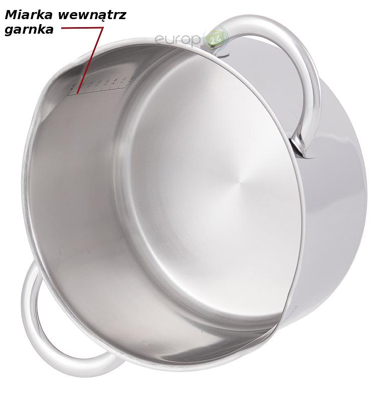 Garnek stalowy 5.6 litrowy Klausberg KB 7218 - praktyczna miarka w garnku