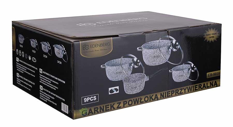 Zestaw garnków marmurowych Edenberg EB 8010 - pudełko
