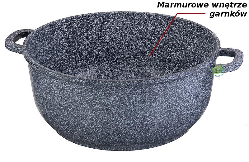 Garnki marmurowe Edenberg EB 8010 marmurowe wnętrze
