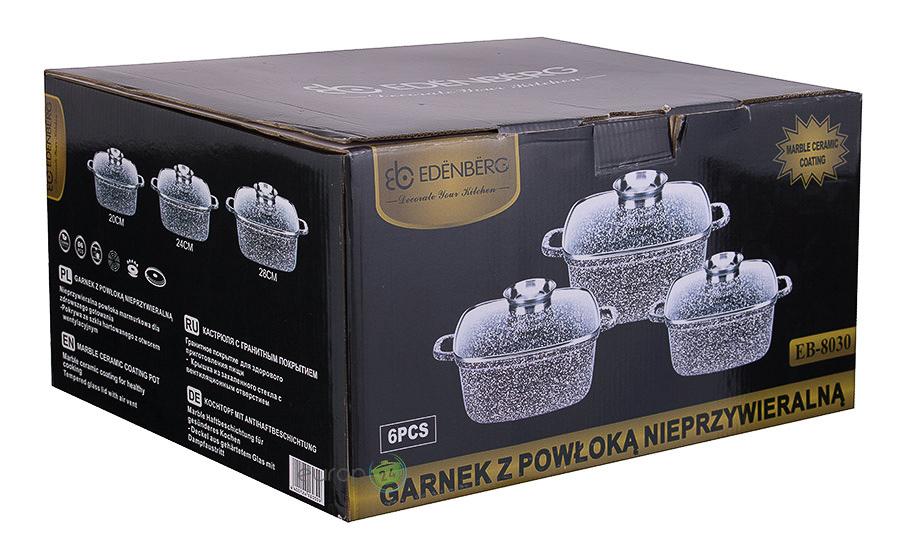 Zestaw garnków marmurowych Edenberg EB 8030 - pudełko