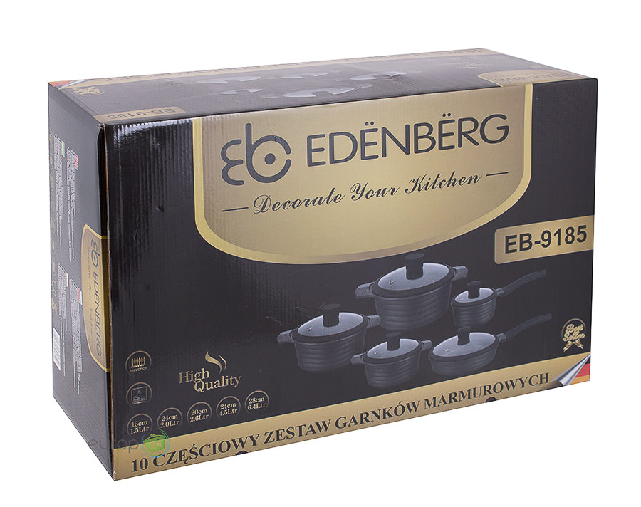 Zestaw garnków marmurowych Edenberg EB 9185- oryginalne pudełko