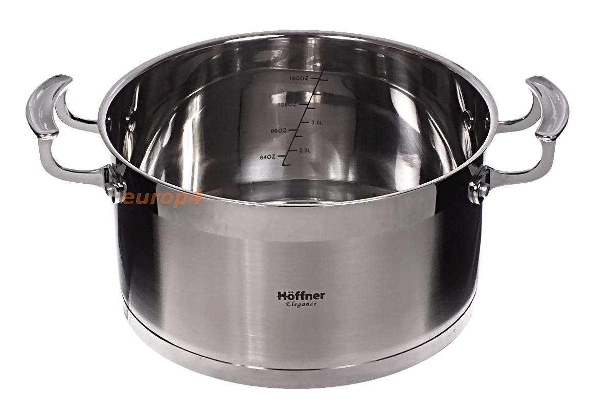 Garnki stalowe Hoffner HF 9977 - praktyczna miarka