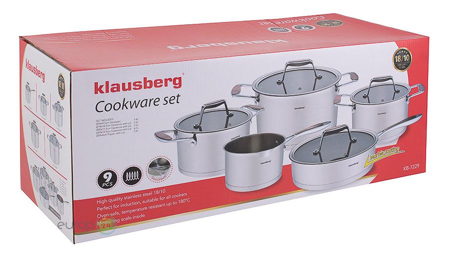 Komplet garnków stalowych Garnki Klausberg KB 7229 - pudełko