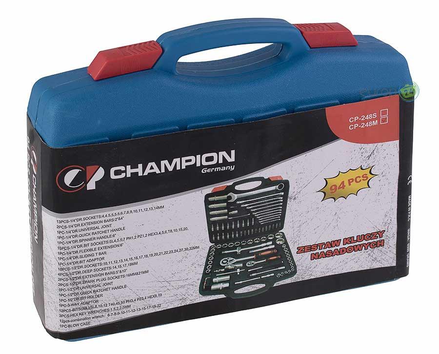 Zestaw kluczy nasadowych Champion CP 248M