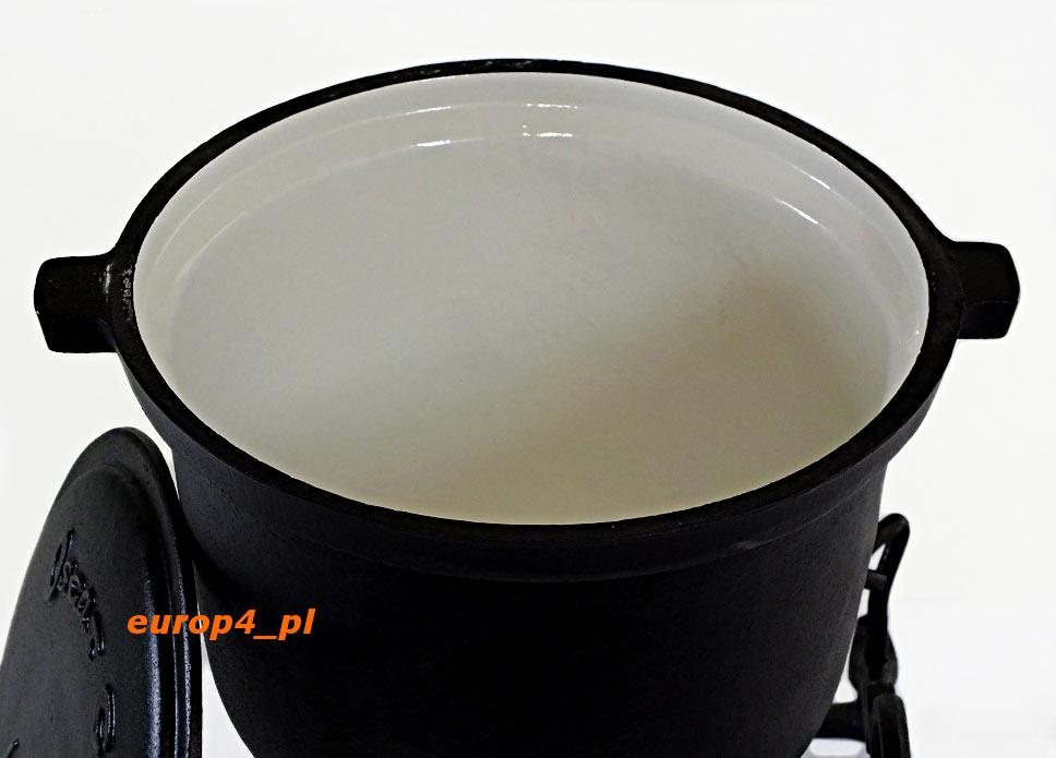 Garnek żeliwny myśliwski KOC6 KH 2242 ceramiczne wnętrze