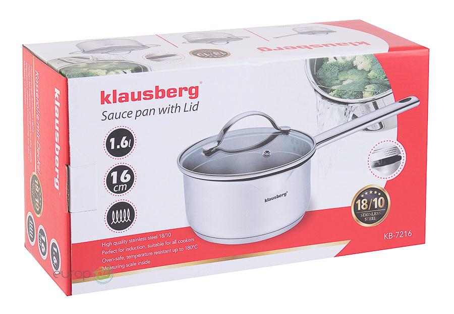 Rondel stalowy z pokrywką 1.7 L Klausberg KB 7216 - pudełko