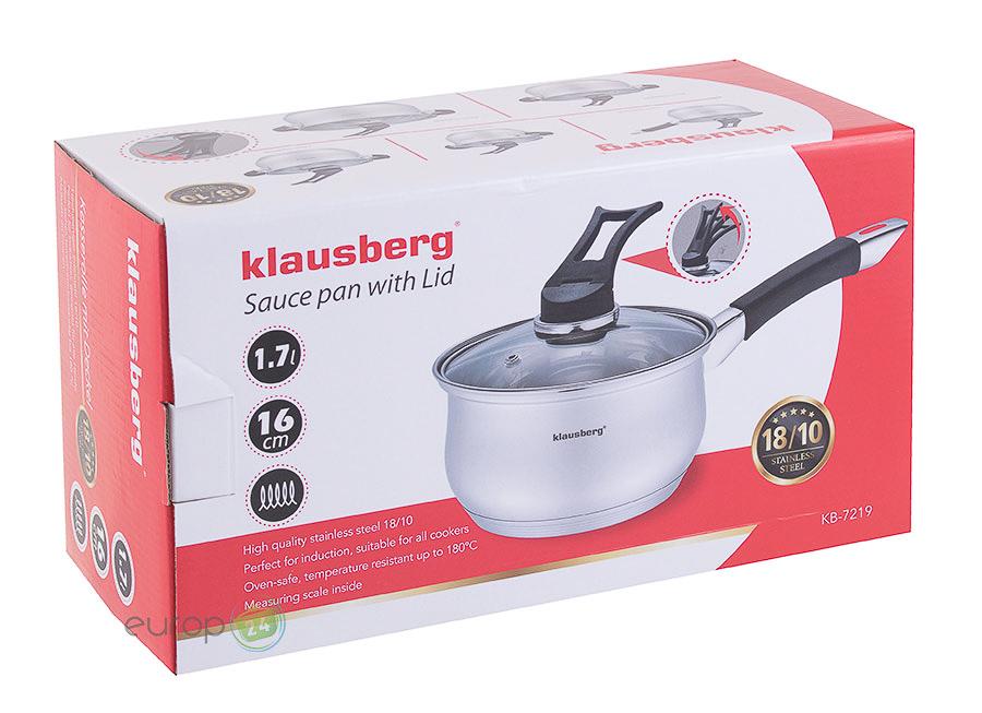 Rondel stalowy z pokrywką 1.7 L Klausberg KB 7219 - pudełko