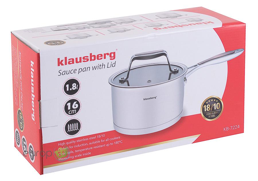 Rondel stalowy z pokrywką 1.8 L Klausberg KB 7224 - pudełko
