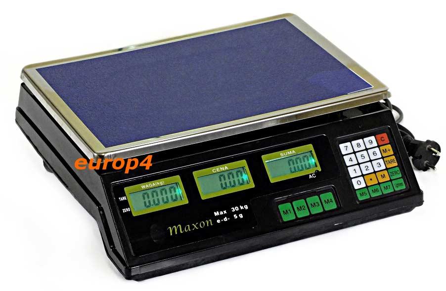 Waga elektroniczna sklepowa Maxon MX 1040