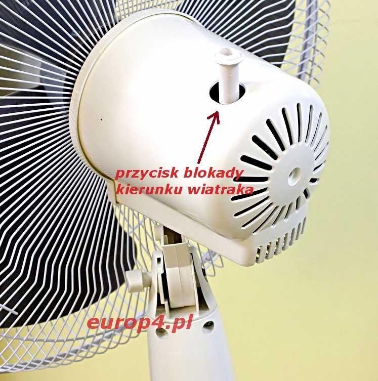 Wentylator podłogowy Maxon MX 1376 blokada wiatraka